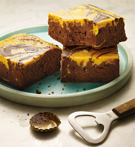 Bier-Kürbis Brownie